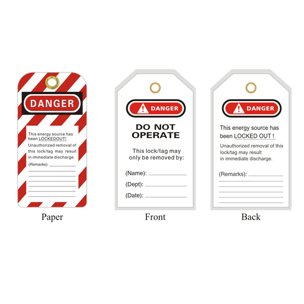 General Tagout BD-P03(Plastic Coated)